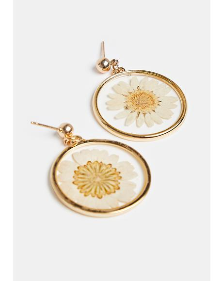 Wildflower Goddess Pressed Flower Earrings
