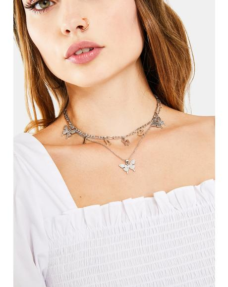 Freedom Chaser Butterfly Layered Choker