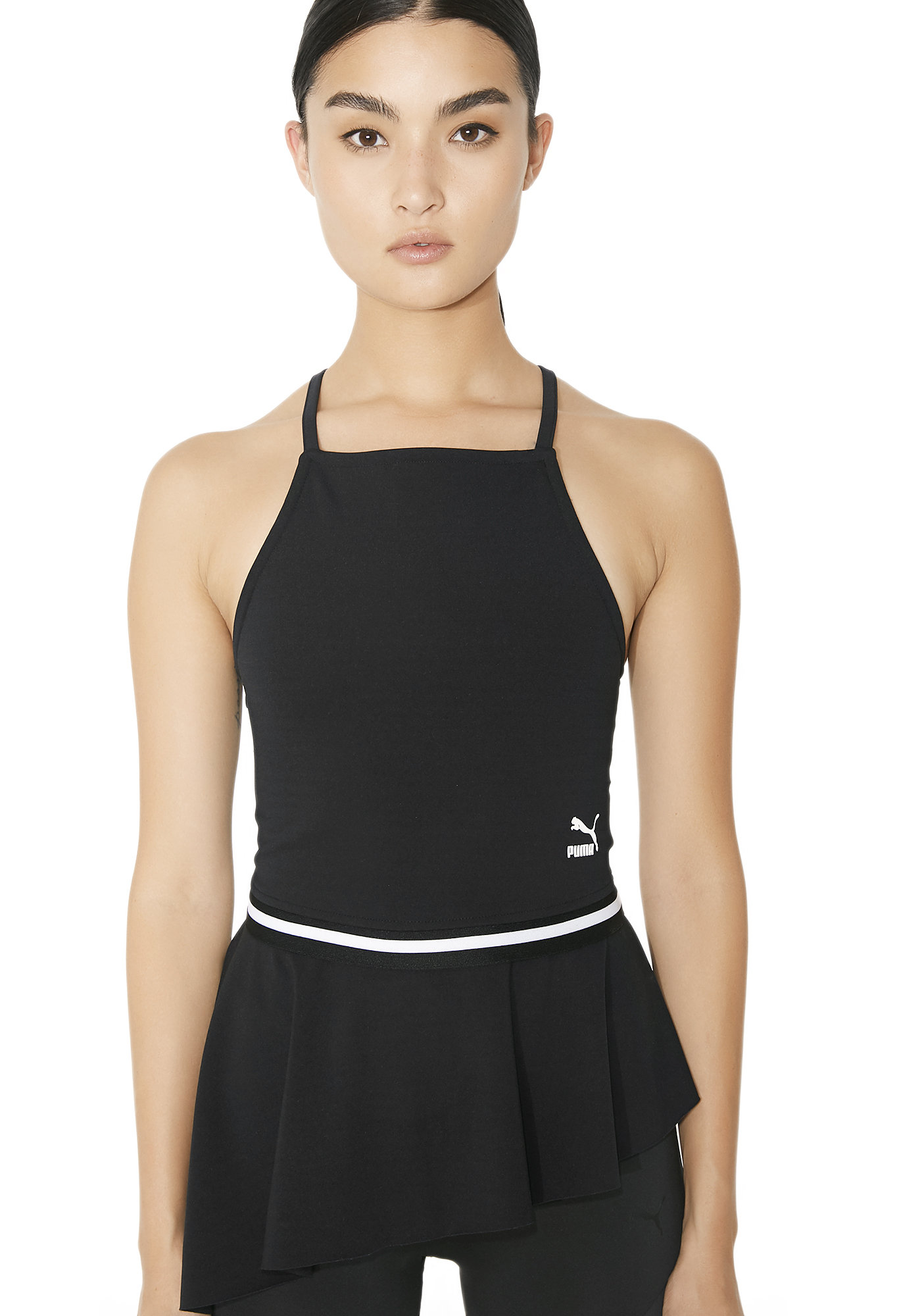 PUMA Xtreme Tight Frilled Tank Top