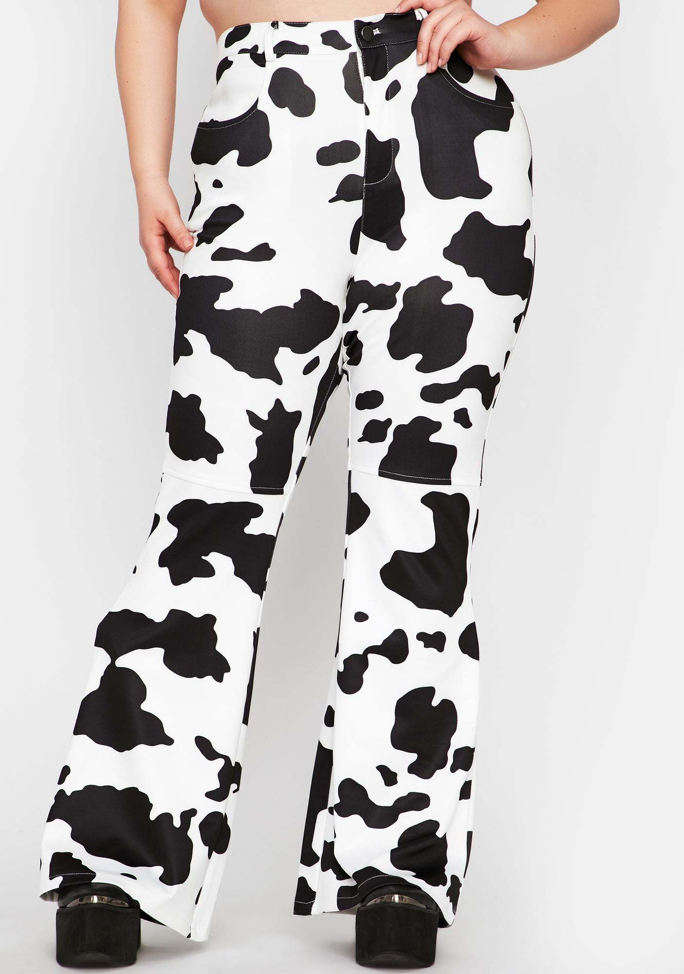 Duh Everything's A1 Cow Print Pants