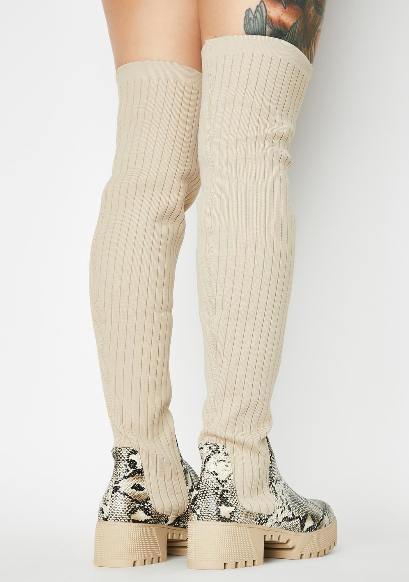 Toxic Baddie Bae Knee High Boots