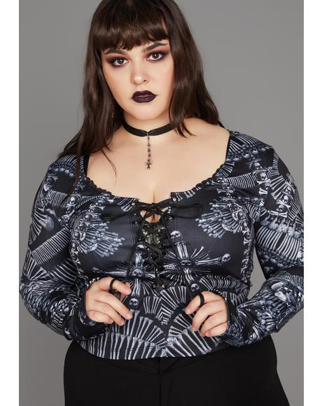 Deadly Catacomb Crypt Crop Top