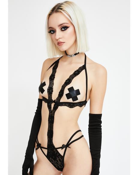 Haute Exposure Lace Teddy