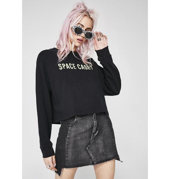 Block The Haterz Denim Skirt