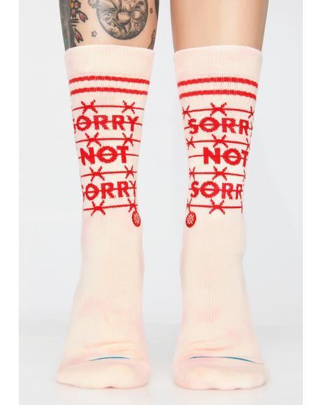 Sorry Not Sorry Socks