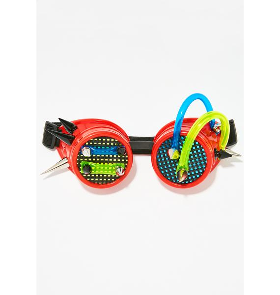Wired Up Cyborg Goggles