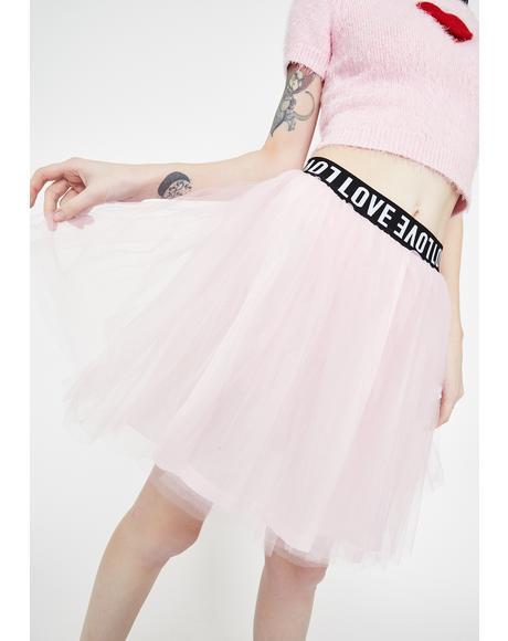 I Love You Tutu Skirt