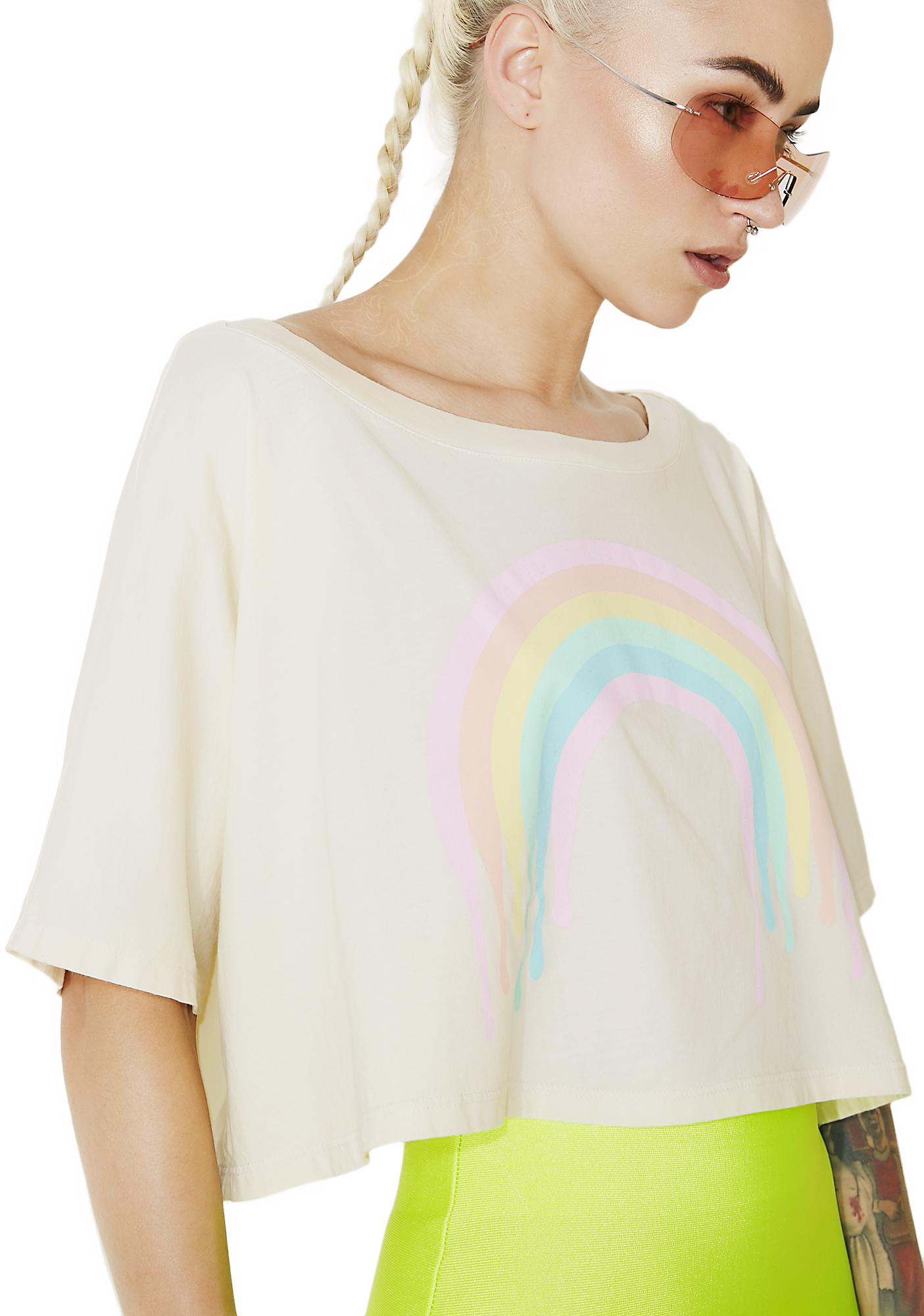 MeYouVersusLife Dripping Rainbow Crop