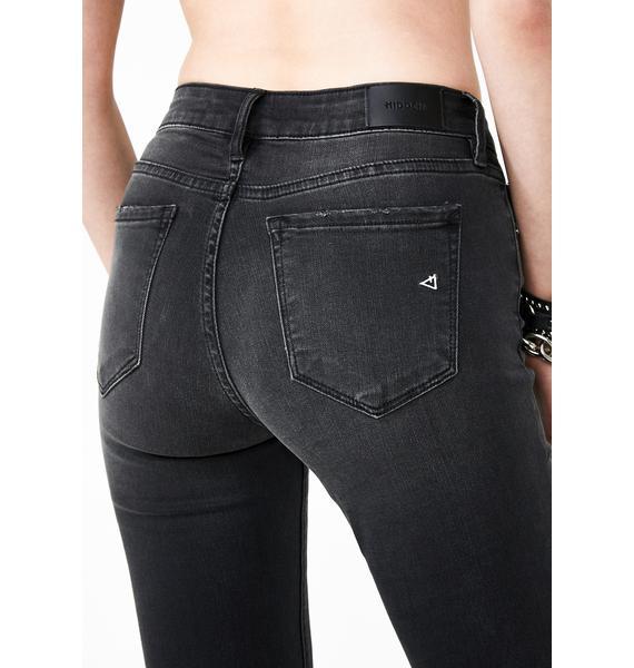 Hidden Denim Black Distressed Skinny Jeans