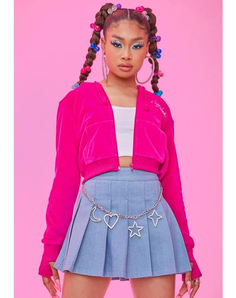 Positive Energy Denim Pleated Skirt