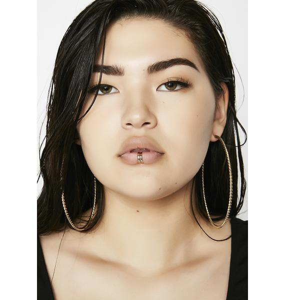Got Me Twisted Hoop Earrings