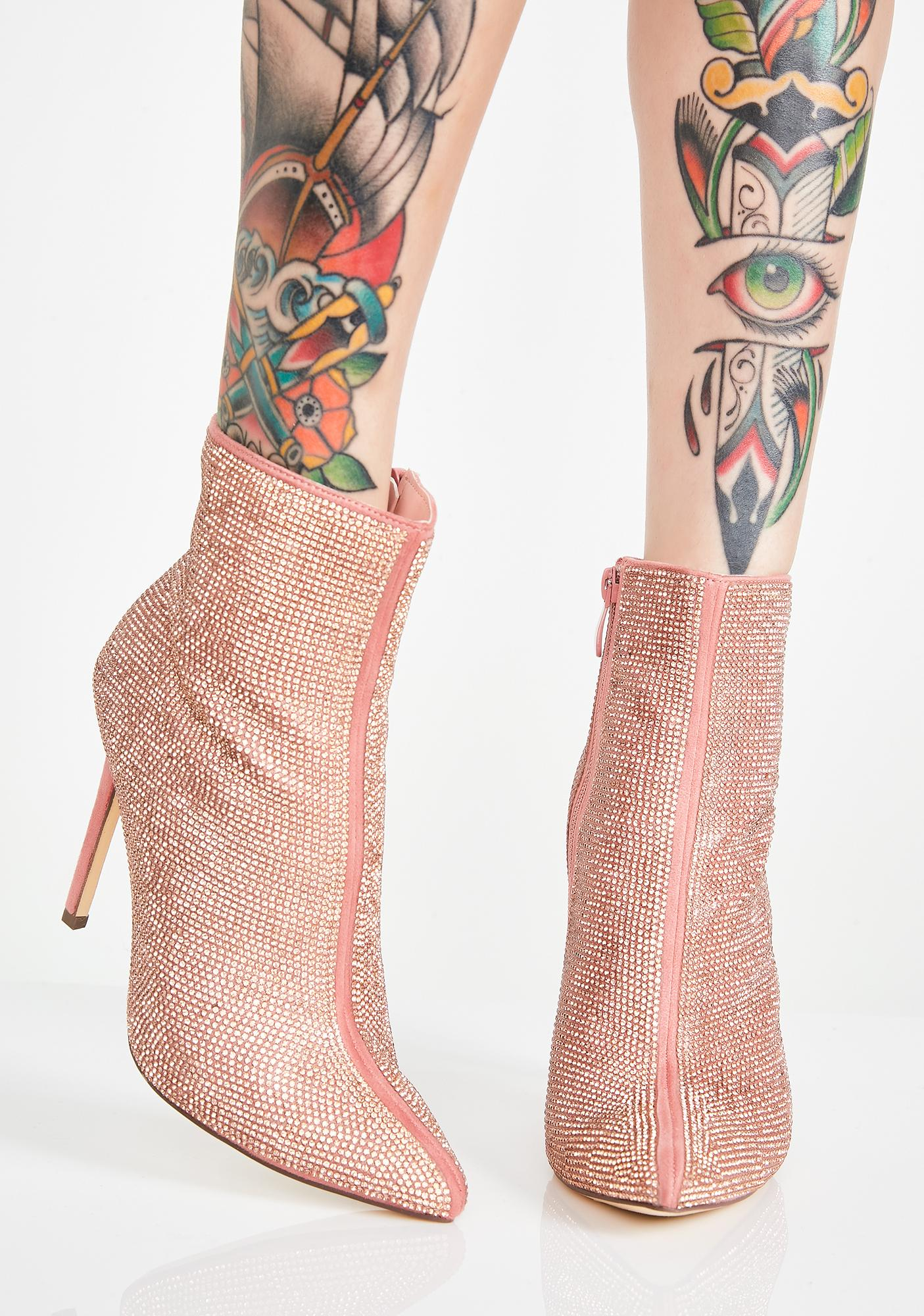 Blingin Brilliance Ankle Booties