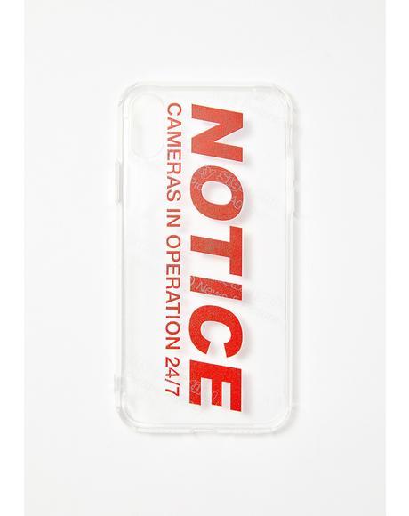 Notice IPhone Case