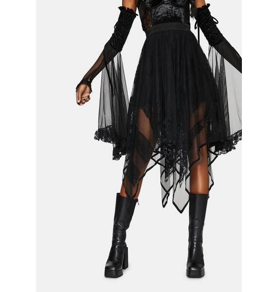 Punk Rave Artemis Sheer Midi Skirt