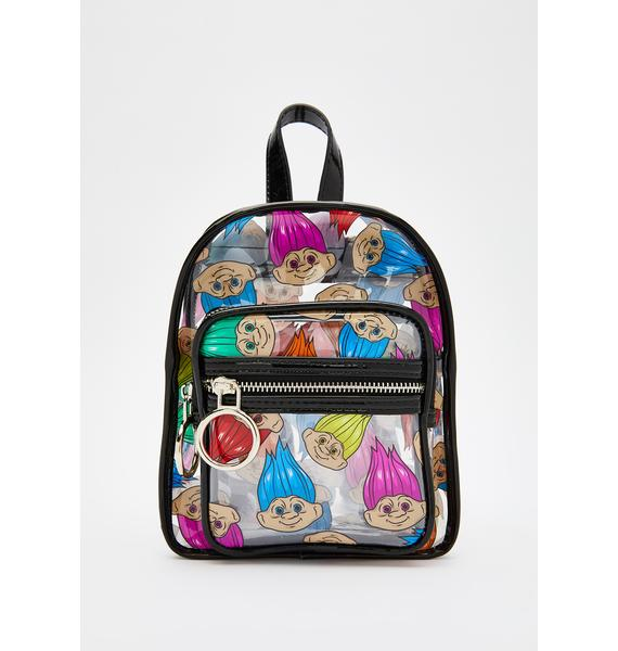 Good Luck Trolls x Dolls Kill Troll Clear Backpack