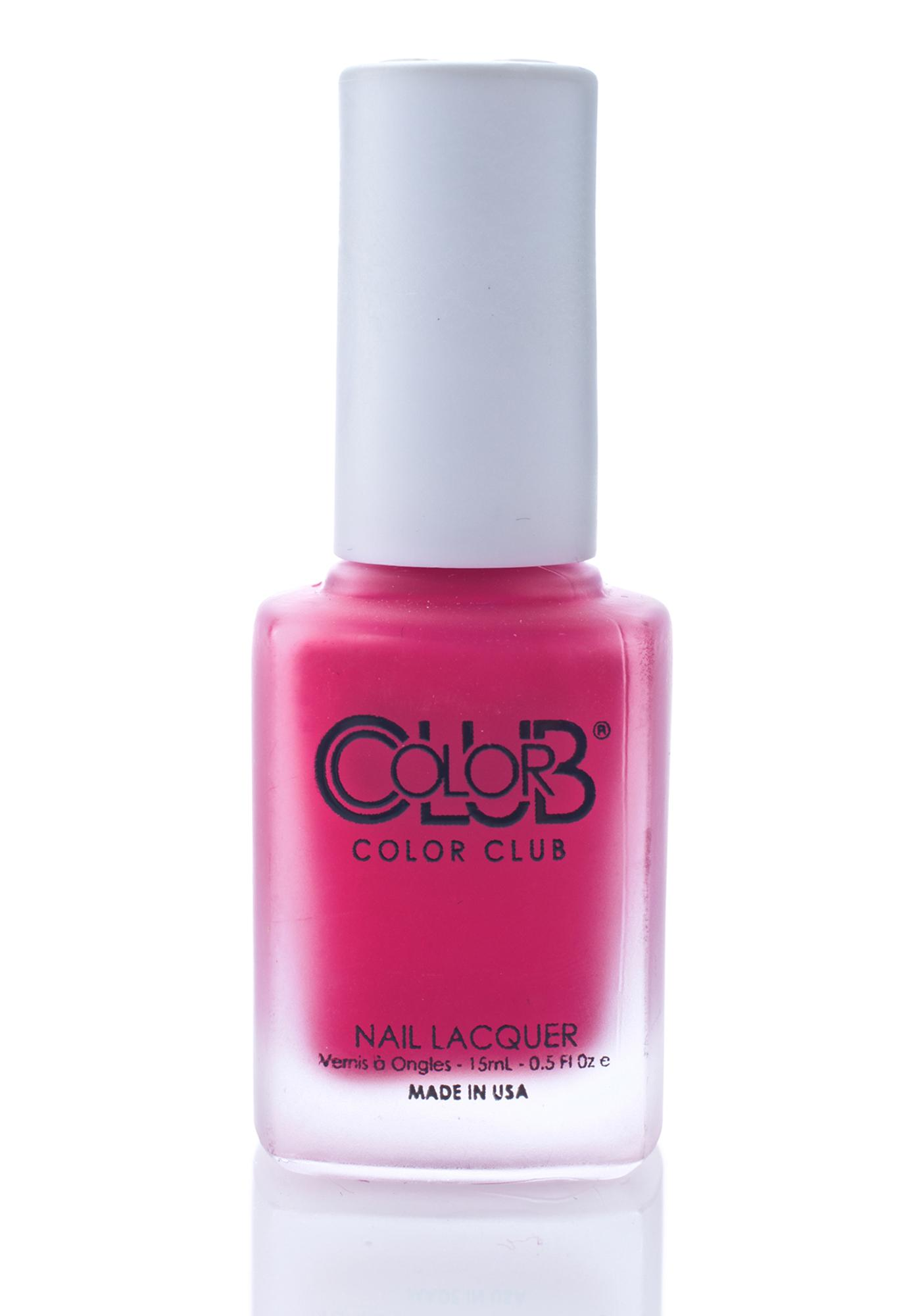 Color Club First Base Only Matte Rouge Nail Polish