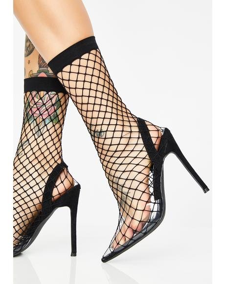 Raven The Hott Friend Fishnet Heels
