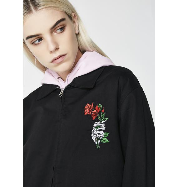 RIPNDIP Dead Rose Cotton Coach Jacket