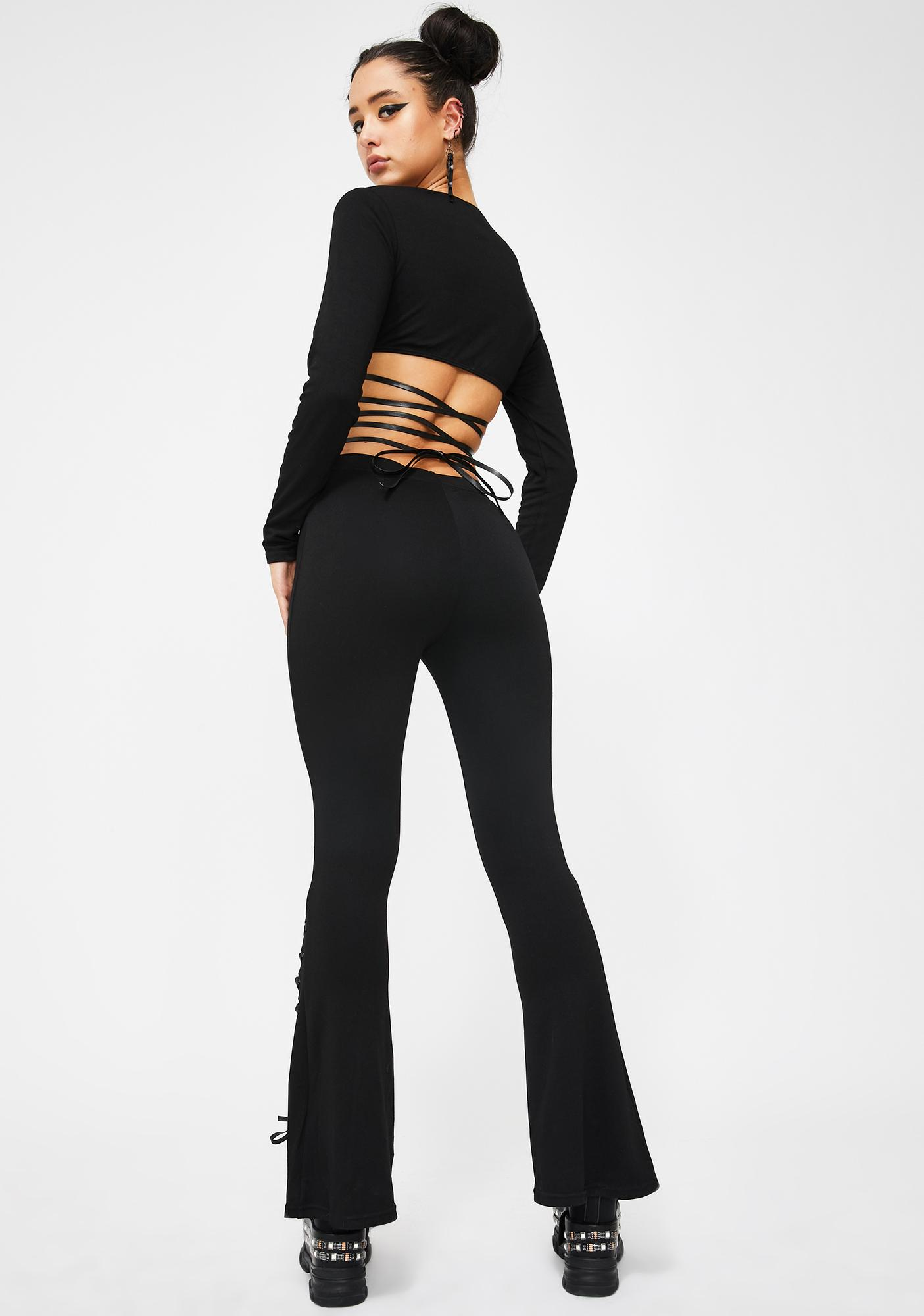 Club Exx Cyberpunk Riot Lace-Up Flares