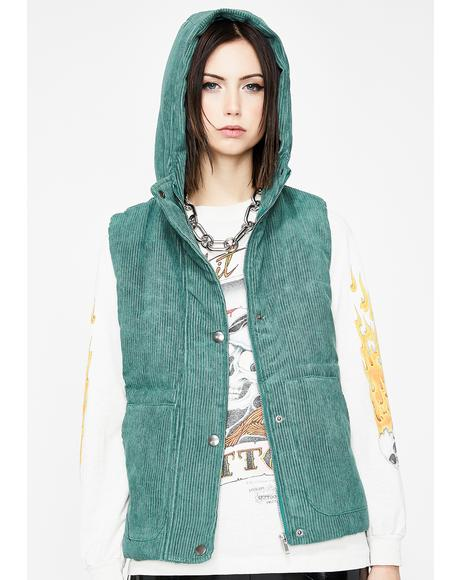 Forest Cool Grl Vibes Puffer Vest