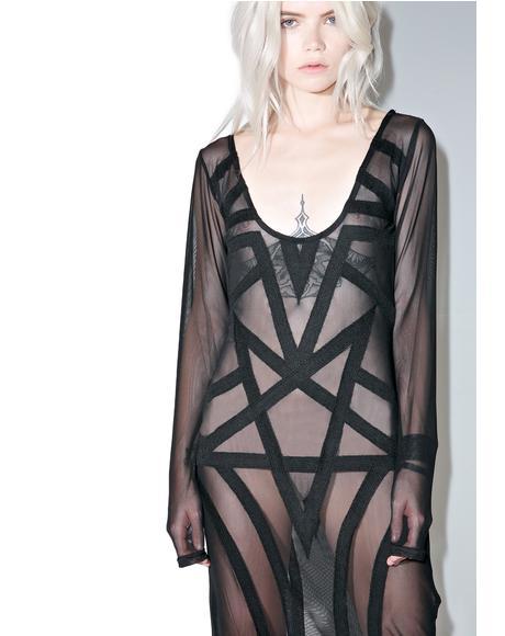 Zandra Mesh Maxi Dress