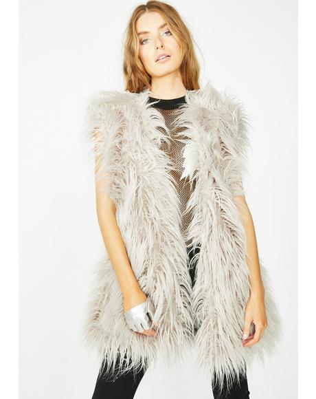 Arctic Empress Fur Vest