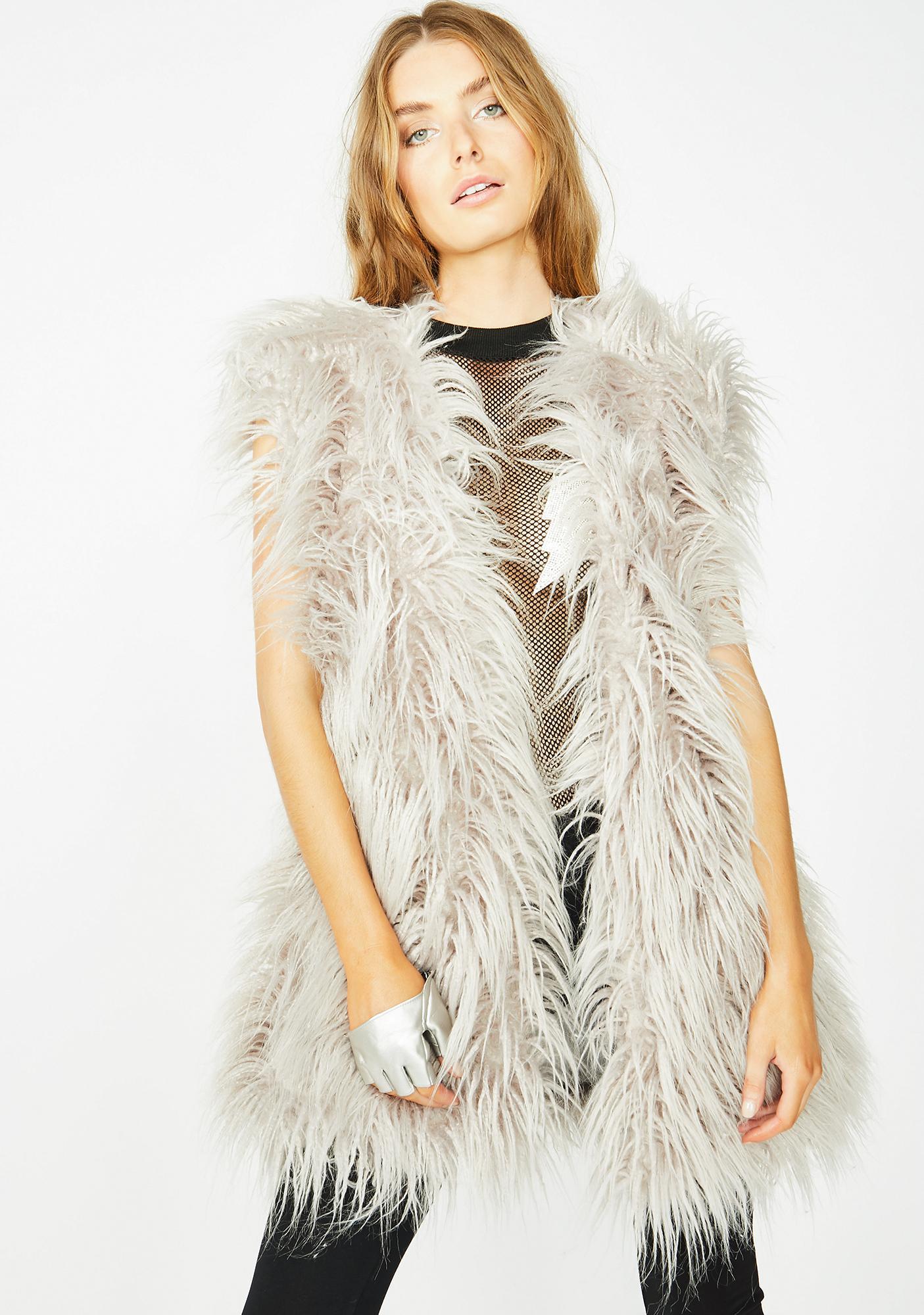 Club Exx Arctic Empress Fur Vest