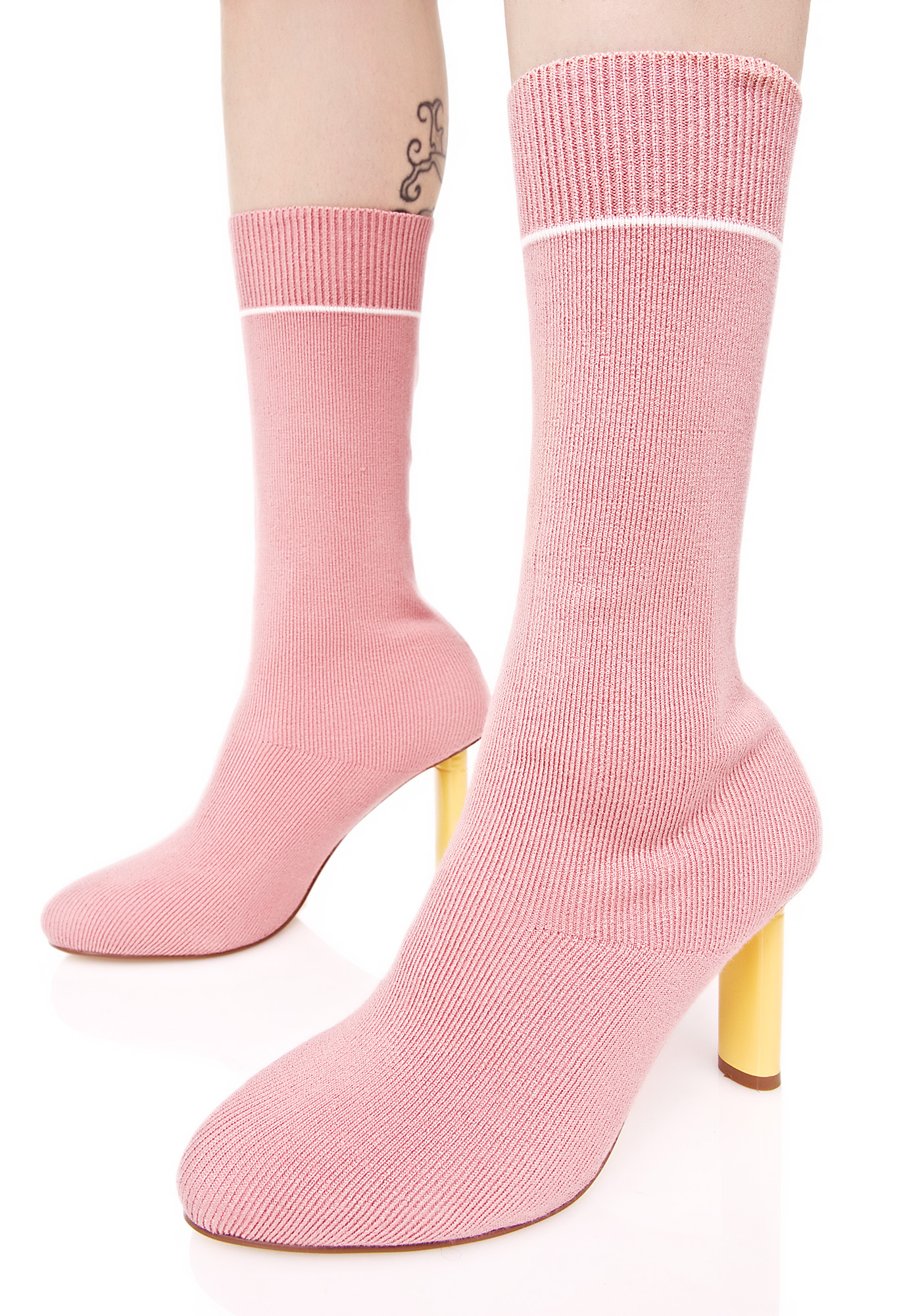 Rose Soft Flicker Sock Boots