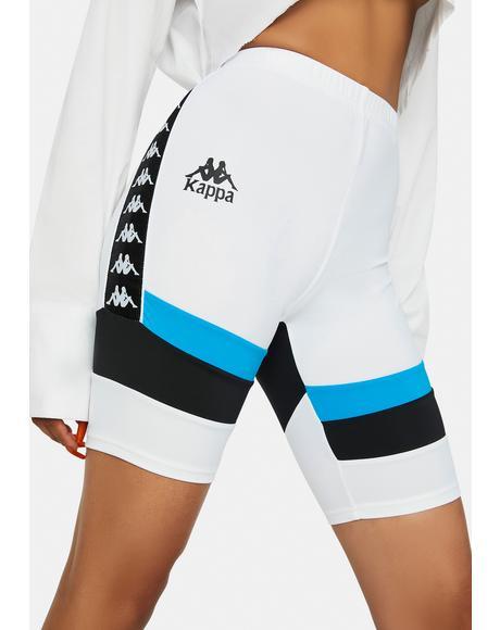 White Authentic Football Eve Bike Shorts