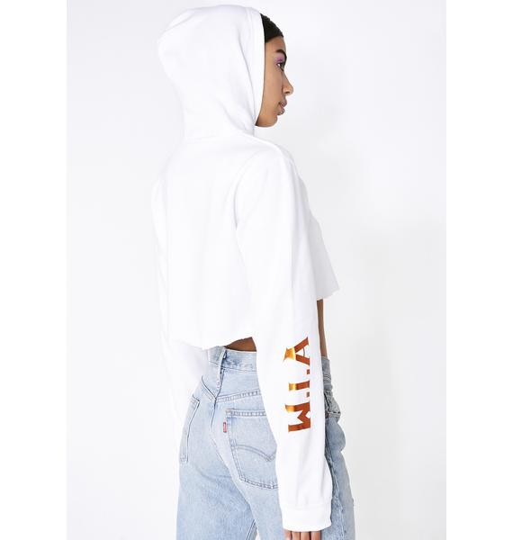 W.I.A I'm So High Crop Hoodie