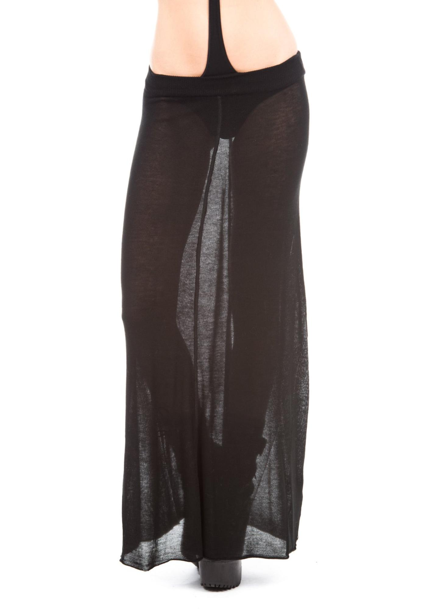 One Teaspoon Hunter Fine Knit Maxi Skirt