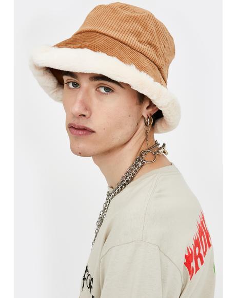 Mocha Doll Baby Corduroy Bucket Hat