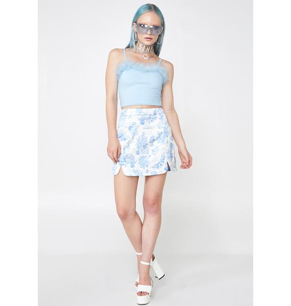 Sugar Thrillz Provincial Life Satin Skirt