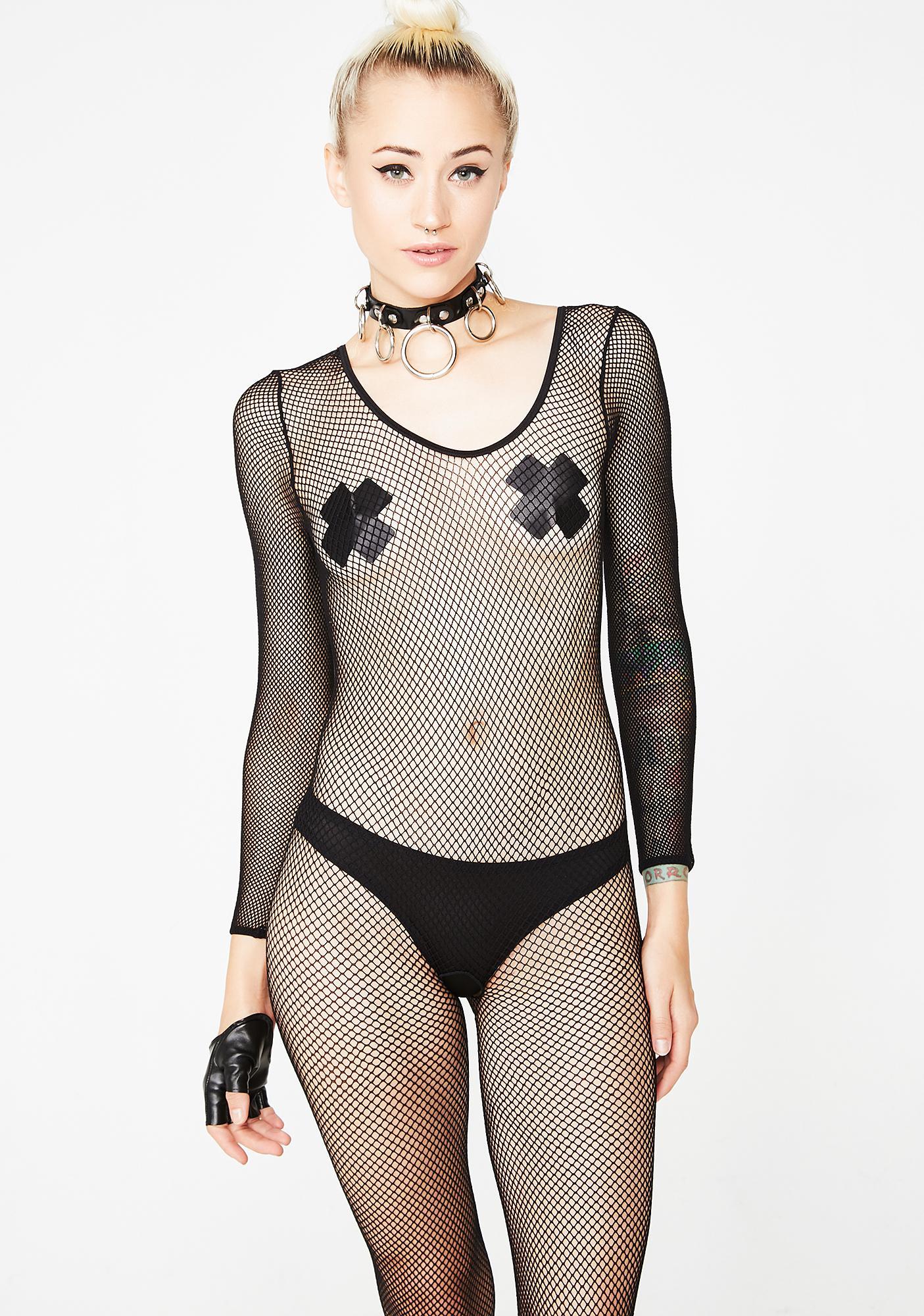 0623eb5d631 Sexy Black Fishnet Bodystocking