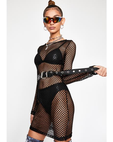Dark Toxic Trance Fishnet Dress