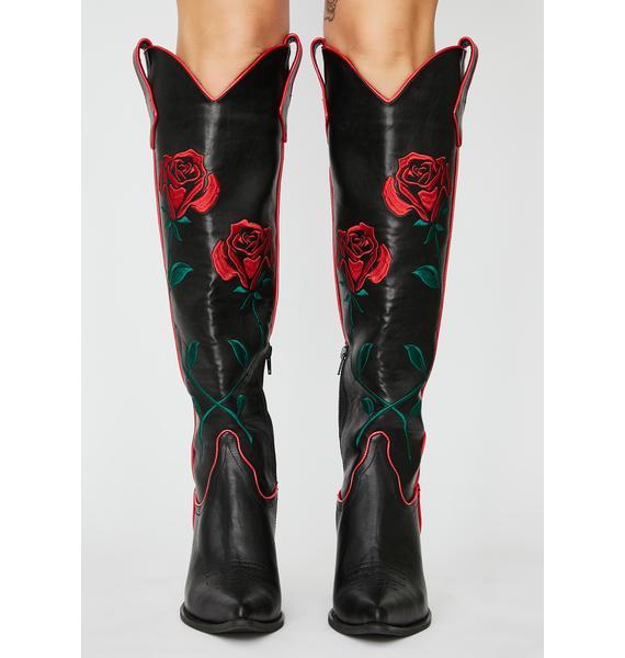 Current Mood Desert Rose Cowboy Boots