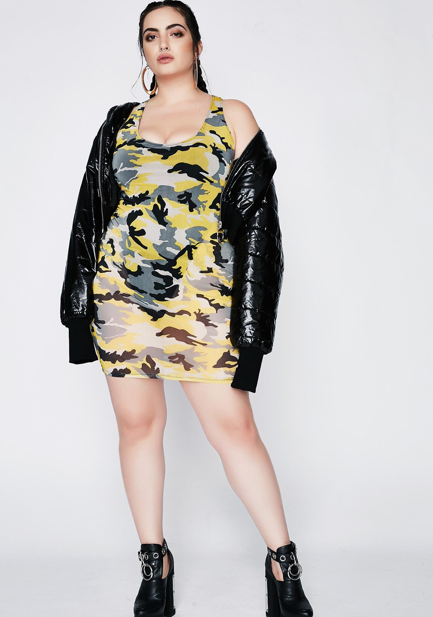 Poster Grl Climb The Ranks Camo Dress