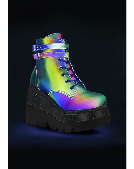 Psychedelia Reflective Technopagan Boots