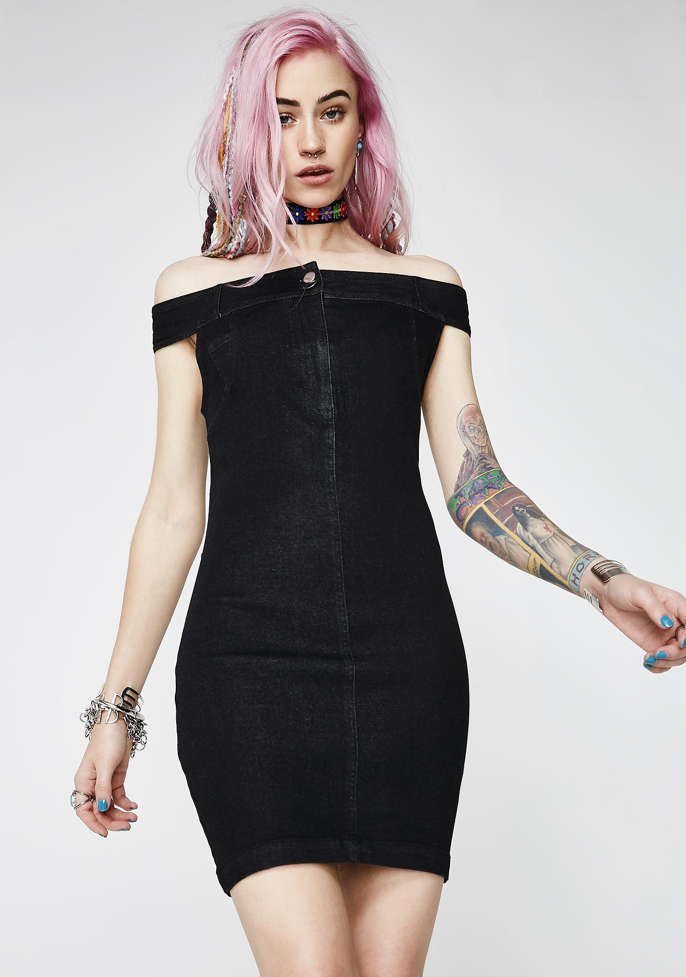 Ready To Slay Denim Dress