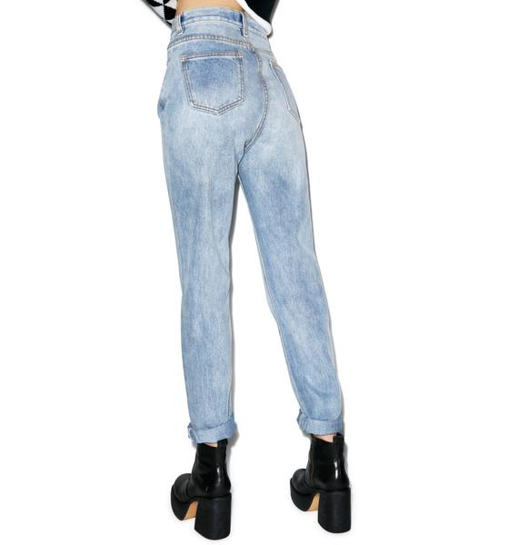 Mink Pink Blue Skies Straight Leg Jeans