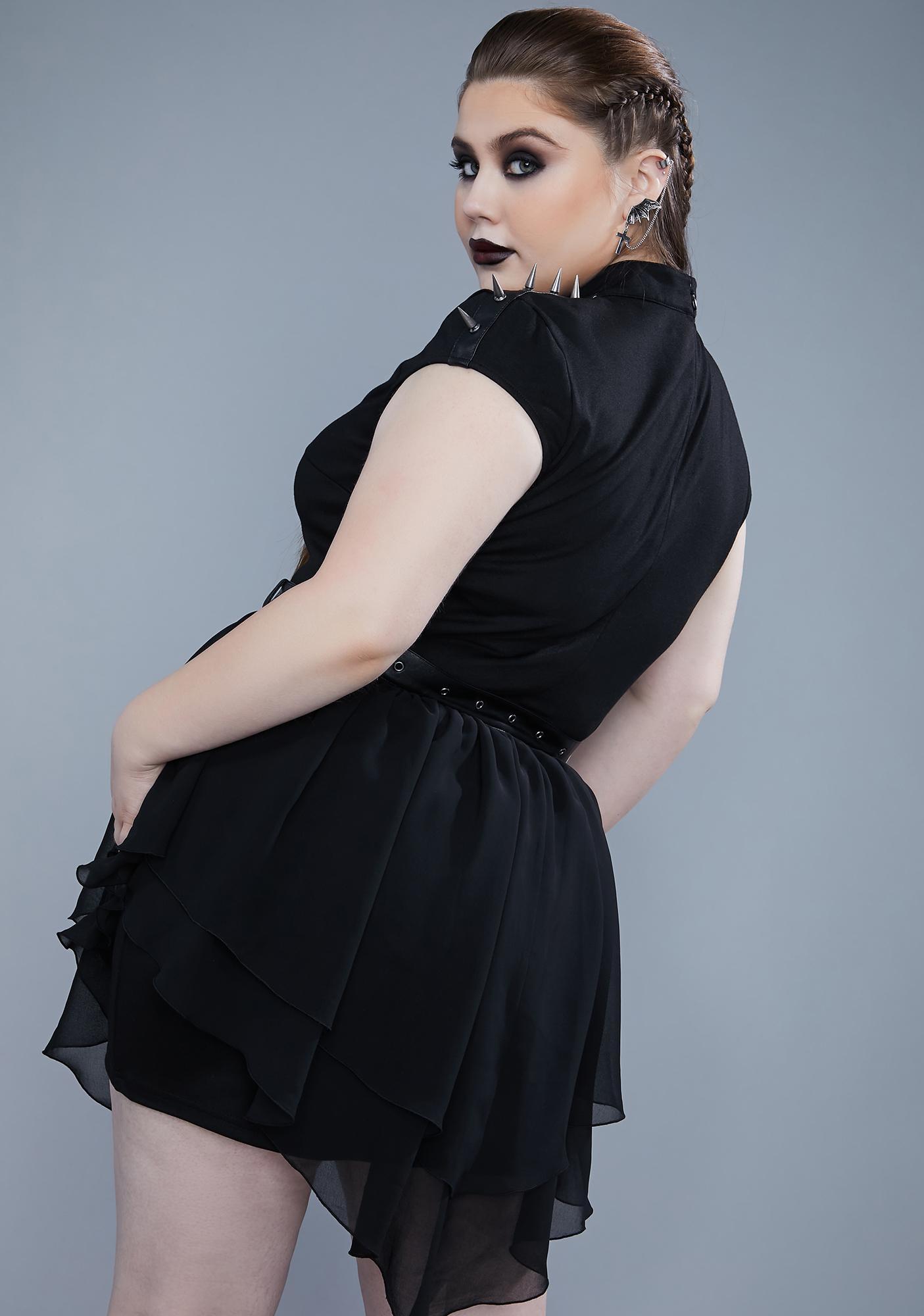 Widow My Warrior Spirit Spiked Mini Dress