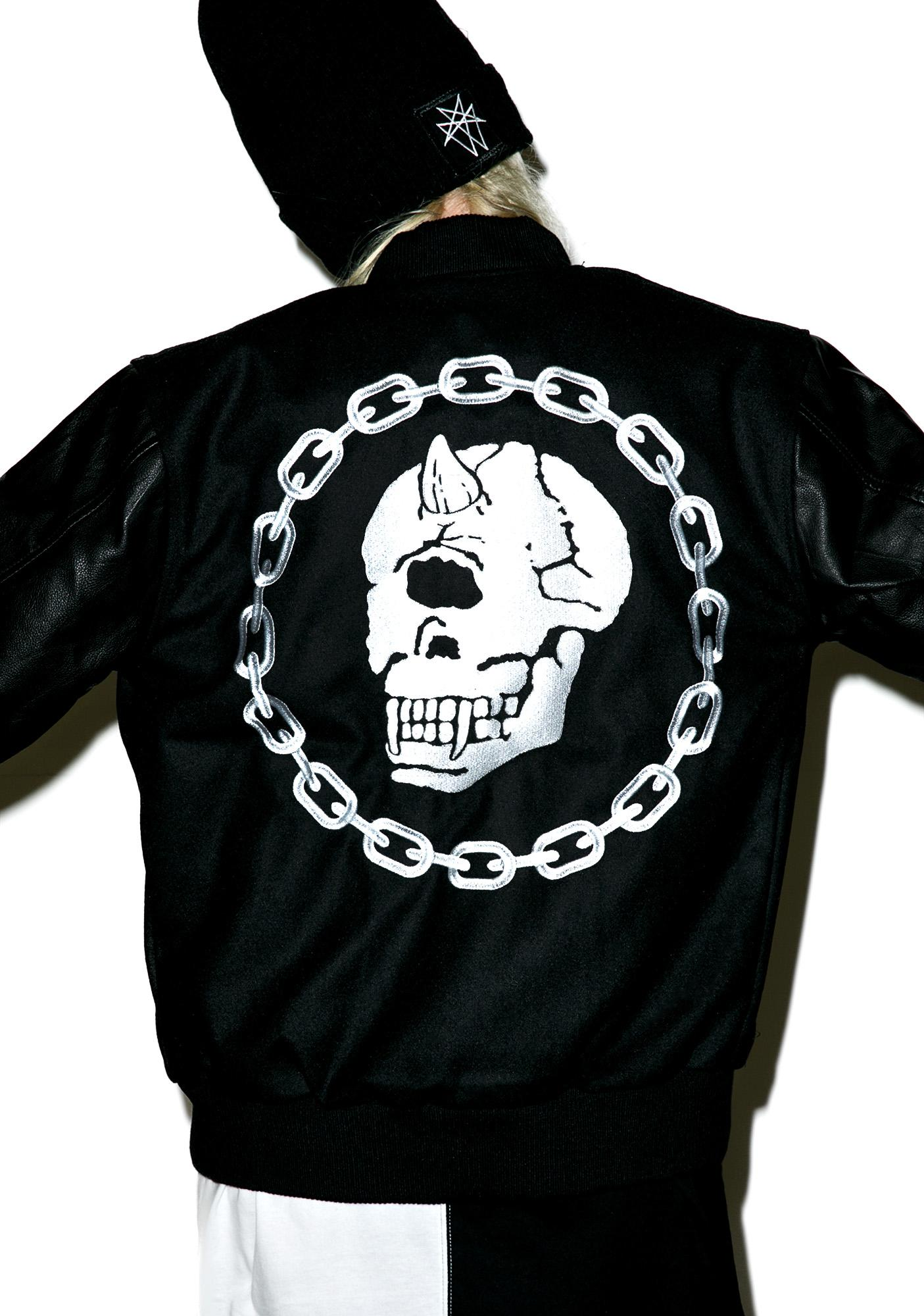 Long Clothing X Mishka Chain Varsity Jacket