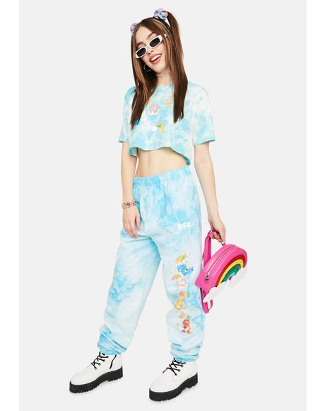 Raining Care Bears Tie Dye Sweatpants