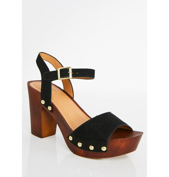 Dark Valley Of The Dolls Platform Sandals