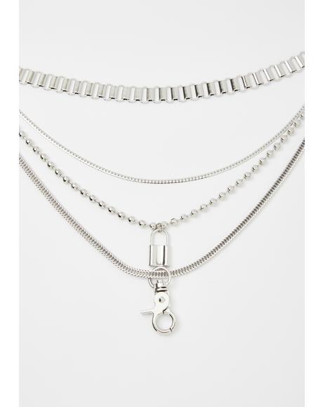 Keepin' On Layered Chain Choker