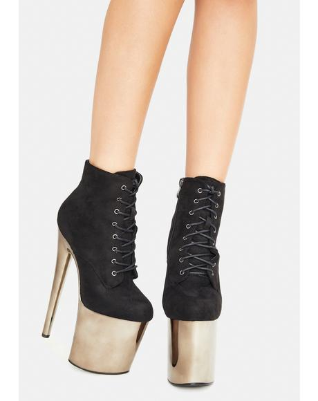 Night Turn Back Time Platform Ankle Boots