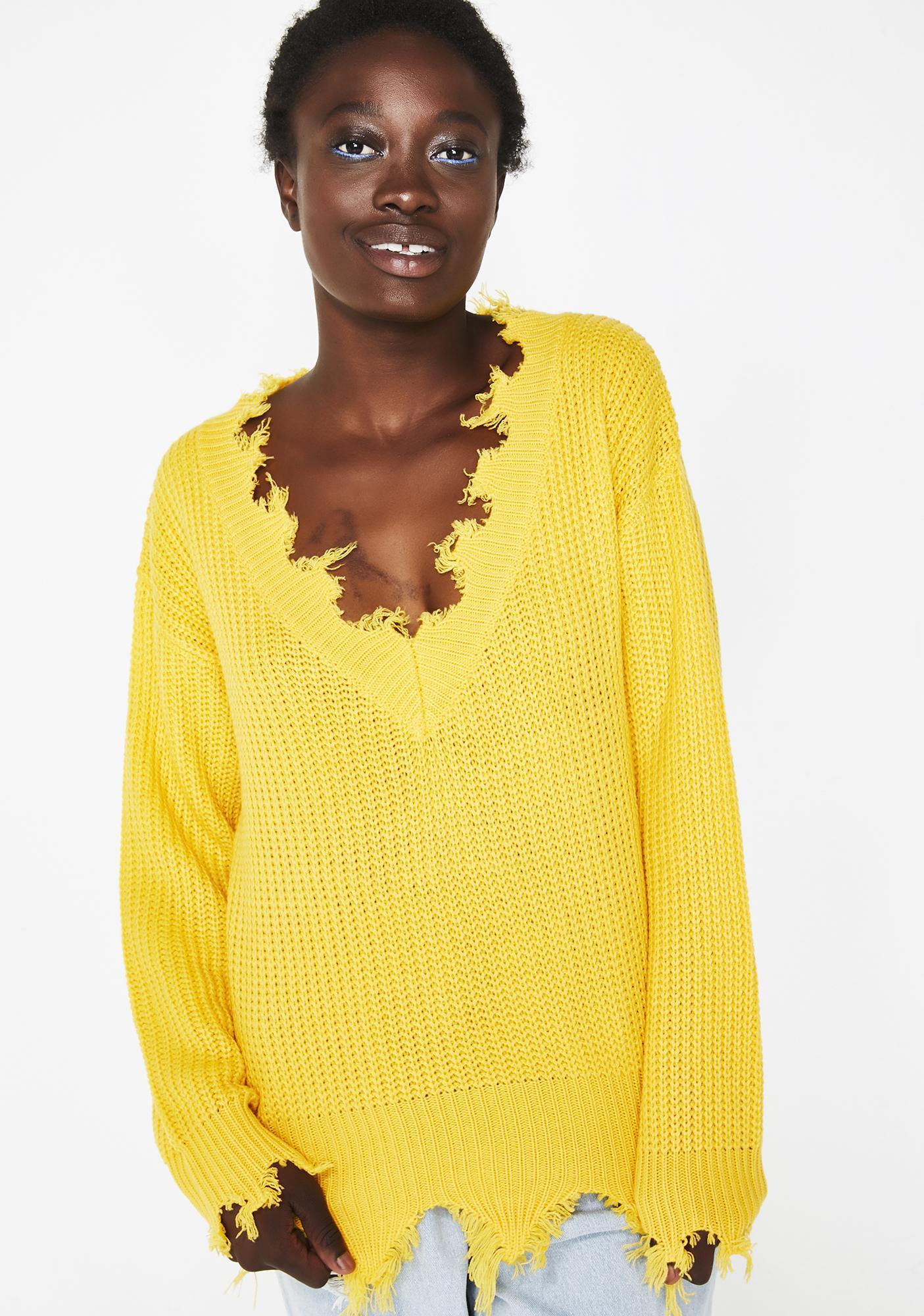 Pickin' Posies Distressed Sweater