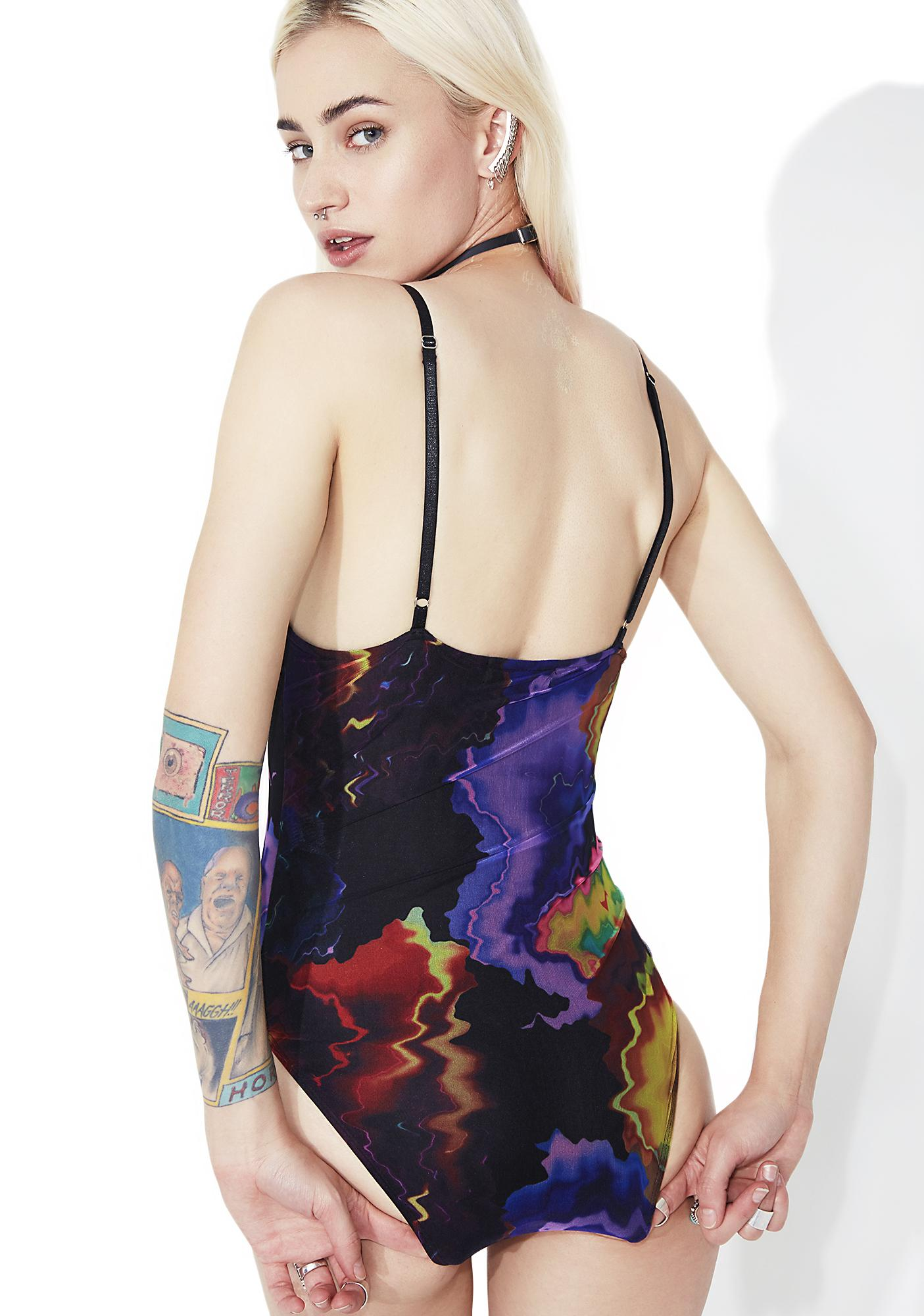 As I Am Hurricane Printed Bodysuit