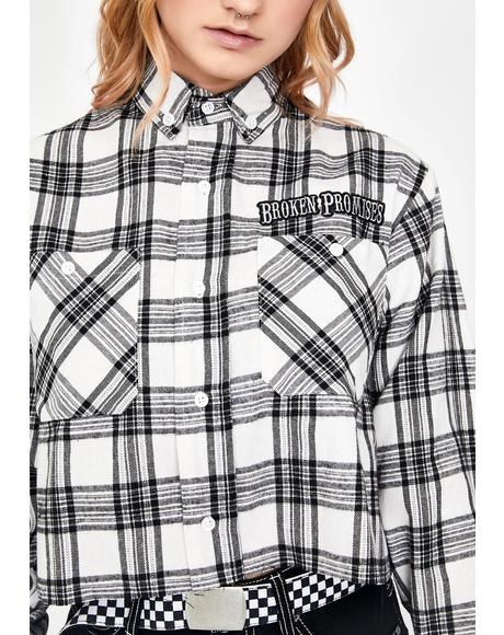 Outlaw Cropped Flannel Shirt