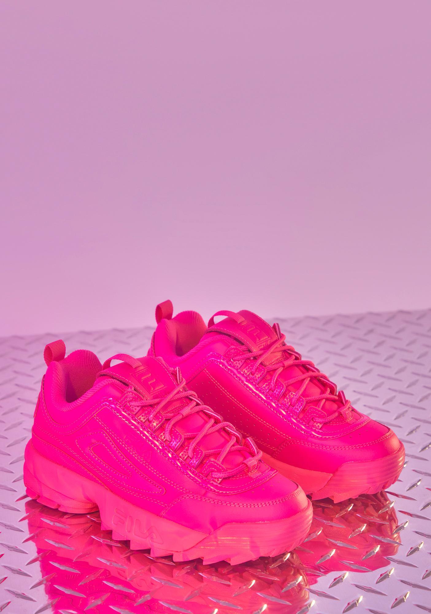 Fila Pink Glo Solid Disruptor 2 Premiums